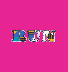 Run concept word art vector