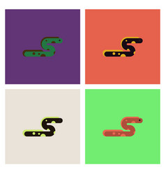 Sea snake set vector