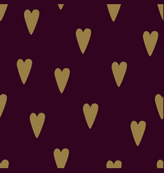 Seamless dark red heart pattern love vector