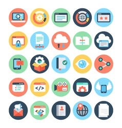 SEO and Marketing Icons 7 vector image