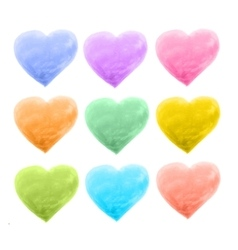 set hearts different color vector image