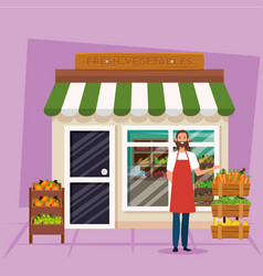 Shop seller man design vector
