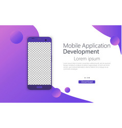 smartphone phone layout vector image