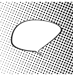 Speech Bubble on Pop Art Background vector image