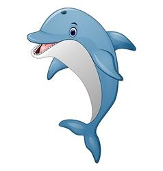 Standing Dolphin cartoon vector