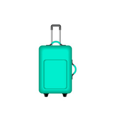 Travel suitcase in turquoise design vector