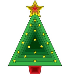 triangle christmas tree vector image