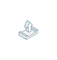 unloading shipment isometric icon 3d line art vector image