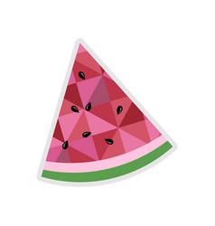 Watermelon slice isolated icon vector