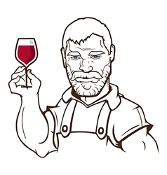 Winemaker vector