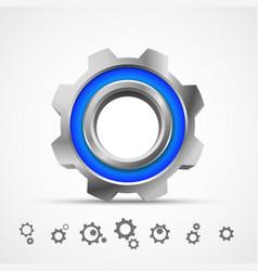 gear icon 3d vector image vector image