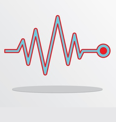 Heart beat cardiogram vector image
