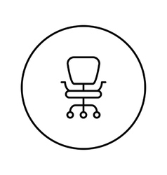 Office chair line icon vector image vector image