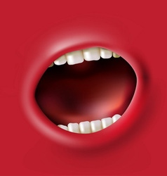 screaming mouth vector image vector image