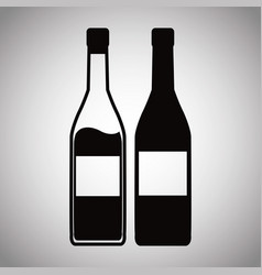 two bottle wine image vector image vector image