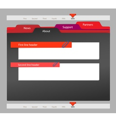 Web site template on black vector image vector image