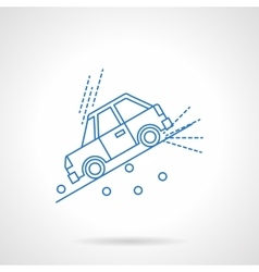Car on slope flat line icon vector image vector image