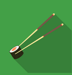 chopsticks icon in flate style isolated on white vector image vector image