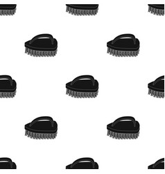 cleaning brush icon in black style isolated on vector image