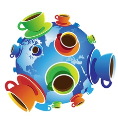 Coffee World isolated vector image vector image
