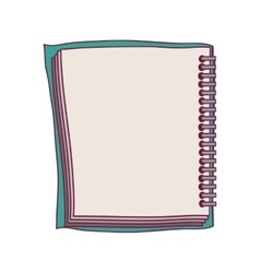 colorful notebook spiral with sheets vector image vector image
