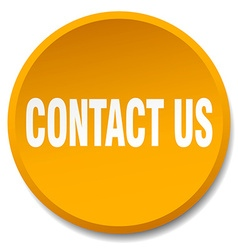 Contact us orange round flat isolated push button vector