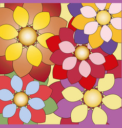 Decorative floral background with colorful flowers vector