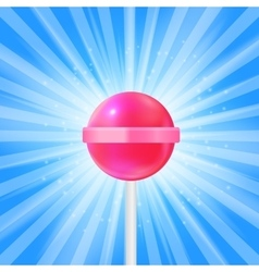 Realistic Sweet Lollipop Candy Background vector image
