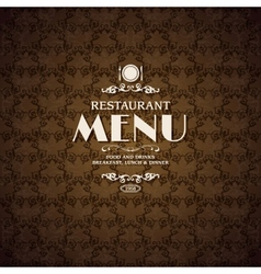 Restaurant cafe menu cover template vector image
