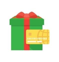 Shopping gift card icon vector image
