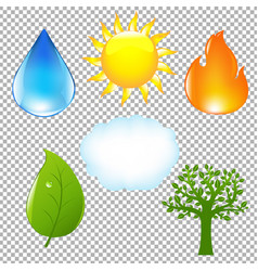 big nature eco set vector image vector image