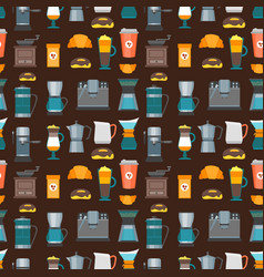 Coffee shop background pattern vector