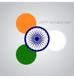 Creative for Indian Rebuplic Day with vector image vector image