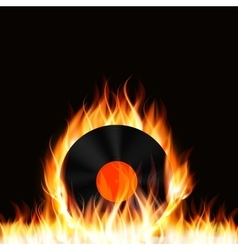 Abstract Music Background with Fire vector image