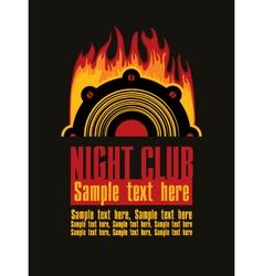 night club vector image