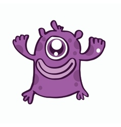 One eye monster cartoon design vector image vector image