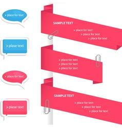 speech bubble and labels set vector image