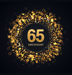 65 years anniversary isolated design vector image