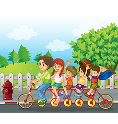 A family bike vector
