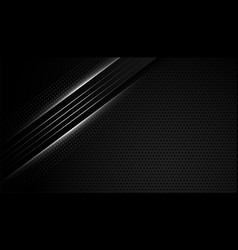 Abstract black wallpaper with lines effect design vector