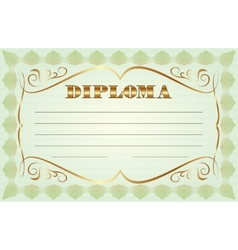 Abstract diploma template vector