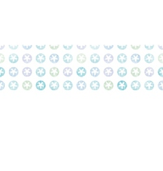 Abstract Textile Snowflakes Dots Horizontal vector image