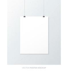 Blank Poster Mockup vector image