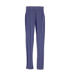 Blue striped pants vector