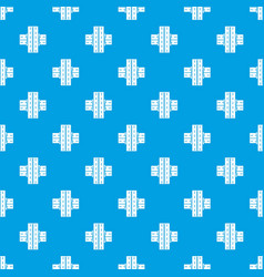 Bridge over road pattern seamless blue vector