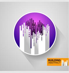 Building abstract design vector