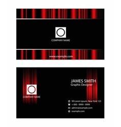 Business card set design vector image