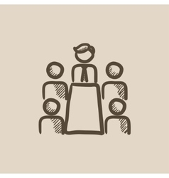 Business meeting in the office sketch icon vector image