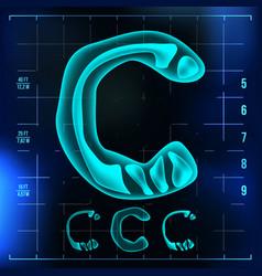 C letter capital digit roentgen x-ray vector