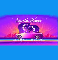 car audio sound wave banner vector image